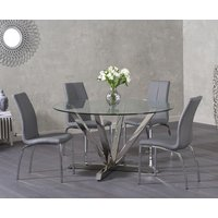 Read more about Reno round glass dining table with cavello chairs