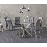 Rio Round Glass Dining Table with Calgary Chairs