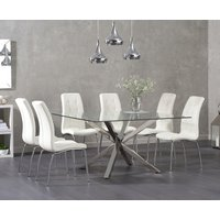 Rio Square Glass Dining Table with Calgary Chairs