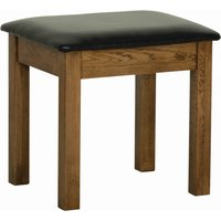 Product photograph showing Rustica Oak Dressing Table Stool