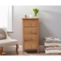 Read more about Sadie oak 4 drawer narrow chest