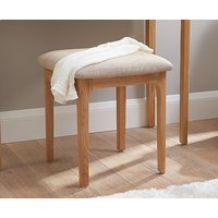 Product photograph showing Ex-display Sadie Oak Dressing Table Stool