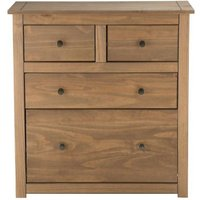 Sandy 2 Over 2 Drawer Chest in Distressed Pine
