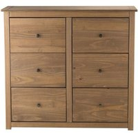 Sandy 6 Drawer Chest in Distressed Pine
