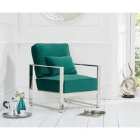 Read more about Sloane green velvet accent chair