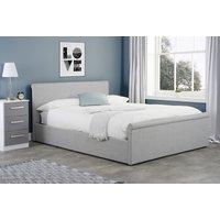 Pennsylvania Grey Small Double Ottoman Bed