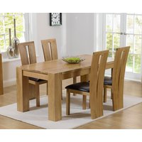Read more about Thames 150cm oak dining table with montreal chairs