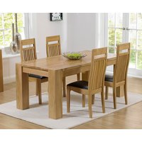 Read more about Thames 150cm oak dining table with monaco chairs