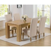 Read more about Thames 150cm oak dining table with cannes chairs