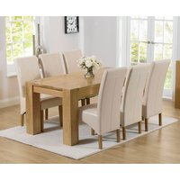 Read more about Thames 180cm oak dining table with cannes chairs