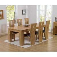 Read more about Thames 220cm oak dining table with montreal chairs