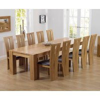 Thames 300cm Oak Dining Table with Montreal Chairs - Cream, 8 Chairs