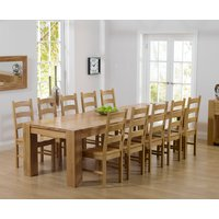 Read more about Thames 300cm oak dining table with vermont chairs - timber- 8 chairs