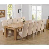 Read more about Thames 300cm oak dining table with cannes chairs