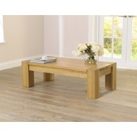 Product photograph showing Large Thames Oak Coffee Table