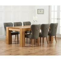 Read more about Thames 220cm oak dining table with knightsbridge fabric chairs