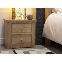 Read more about Messina oak two drawer bedside chest