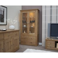 Read more about Messina 100cm oak glazed display cabinet