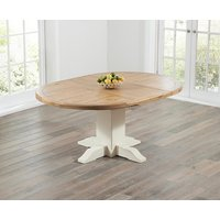 Torino Oak and Cream Extending Pedestal Dining Table