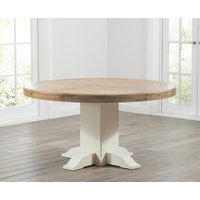 Torino 150cm Oak and Cream Pedestal Dining Table