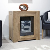 Read more about Milan oak glazed hi-fi unit