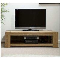 Product photograph showing Ex-display Milan 120cm Oak Tv Unit