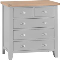 Product photograph showing Willow Oak And Grey 2 Over 3 Chest Of Drawers