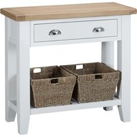 Read more about Eden oak and white small console table