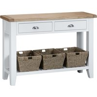 Read more about Eden oak and white large console table