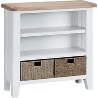 Read more about Eden oak and white small bookcase