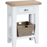 Read more about Eden oak and white telephone table