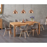 Verona 150cm Solid Oak Dining Table with Duke Faux Leather Chairs