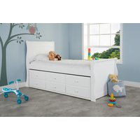 Product photograph showing Valdez White Cabin Bed