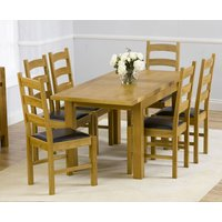 Normandy 120cm Solid Oak Extending Dining Table with Vermont Chairs - Grey, 4 Chairs