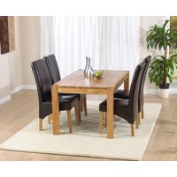 Verona 120cm Solid Oak Dining Table with Cannes Chairs