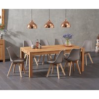 Verona 180cm Solid Oak Dining Table with Duke Faux Leather Chairs