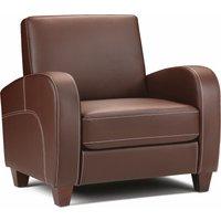 Product photograph showing Vesta Chestnut Faux Leather Chair