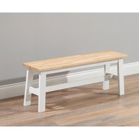 Product photograph showing Ex-display Chiltern Oak And White Large Bench