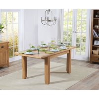Product photograph showing Ex-display Yateley 130cm Oak Extending Dining Table