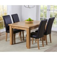 Read more about Yateley 130cm oak extending dining table with albany chairs