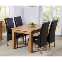 Read more about Yateley 130cm oak extending dining table with cannes chairs
