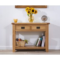 Product photograph showing Yateley Oak Console Table