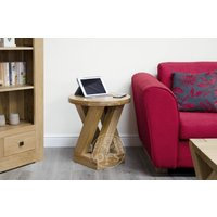 Infinity Solid Oak Round 4 Leg Side Table