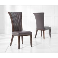 Read more about Alpine brown leather dining chairs