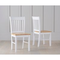 Amalfi Oak and White Dining Chairs