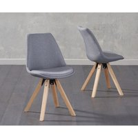 Read more about Oscar dark grey fabric square leg dining chairs