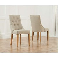 Product photograph showing Pacific Beige Fabric Oak Leg Dining Chairs