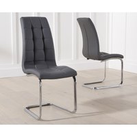Product photograph showing Lorin Grey Faux Leather Dining Chairs