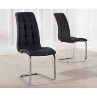Product photograph showing Lorin Black Faux Leather Dining Chairs