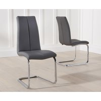 Product photograph showing Tarin Grey Faux Leather Dining Chairs